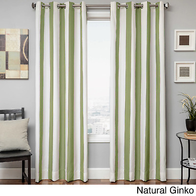 Softline Home Sunbrella Cabana Stripe Grommet One Curtain Intended For Softline Trenton Grommet Top Curtain Panels (View 21 of 50)