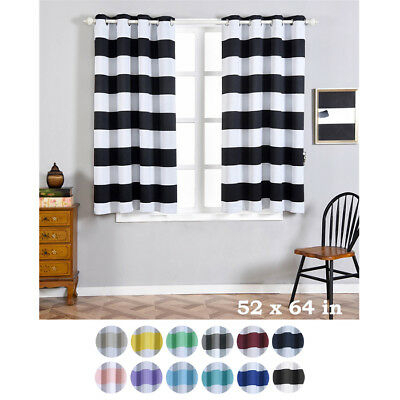 Softline Home Sunbrella Cabana Stripe Grommet One Curtain Regarding Softline Trenton Grommet Top Curtain Panels (View 47 of 50)