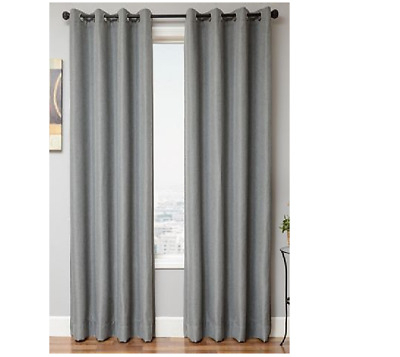 Softline Lorna Black Out One Grommet Window Panel Solid Gray In Softline Trenton Grommet Top Curtain Panels (View 13 of 50)