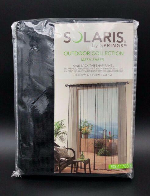 Solaris Mesh 96 In Black Polyester Back Tab Light Filtering Sheer Single  Curtain Regarding Light Filtering Sheer Single Curtain Panels (#30 of 38)