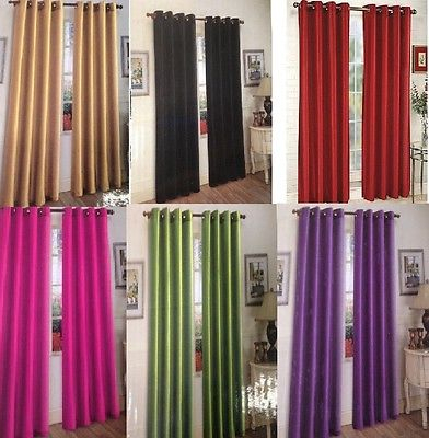 Solid Color Polyester Grommet Window Curtain / Drapes / Two Within Copper Grove Speedwell Grommet Window Curtain Panels (#39 of 50)