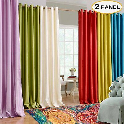 Solid Cotton Grommet Top Curtains Thermal Curtains Window For Bark Weave Solid Cotton Curtains (View 40 of 50)