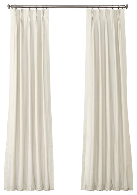 Popular Photo of Solid Cotton Pleated Curtains