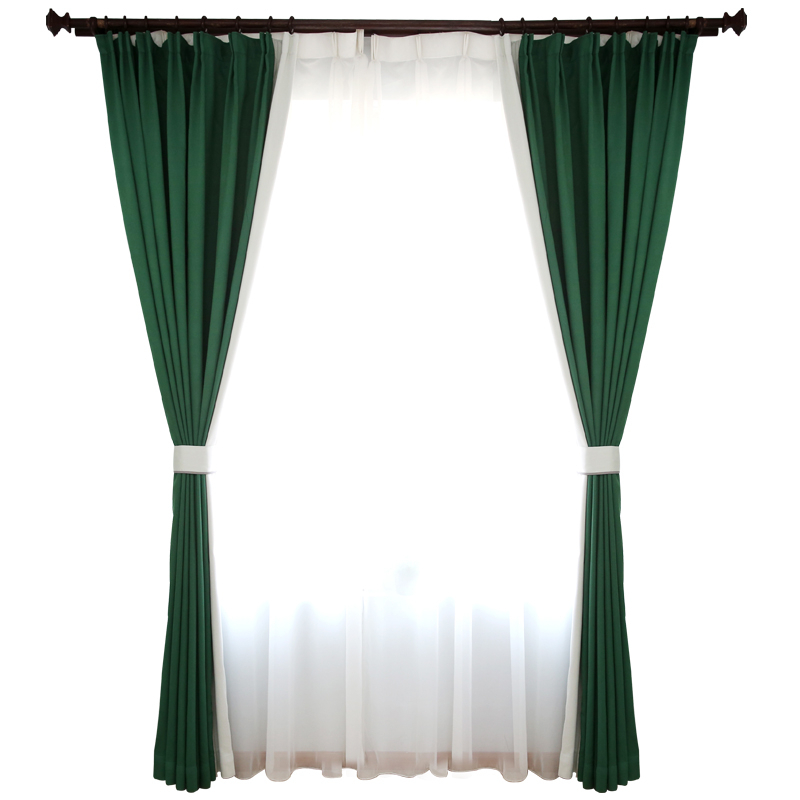 Solid Emerald Green Curtains Cotton Fabric Blackout Panels  With Solid Cotton Curtain Panels (#42 of 47)