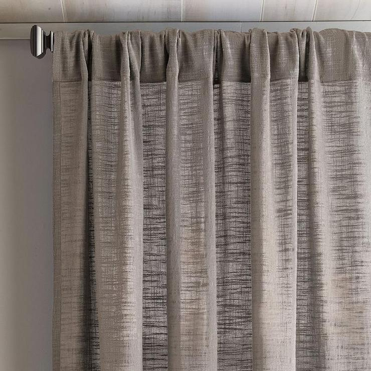 Solid Gray Cotton Window Panel Throughout Solid Cotton Curtain Panels (#43 of 47)