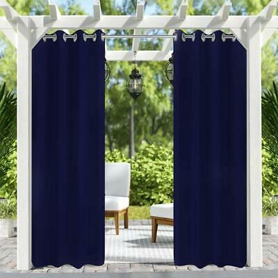 Solid Grommet Indoor/outdoor Curtain Panel Pair 50X96 Inch Dark Blue,4Pack  | Ebay For Catarina Layered Curtain Panel Pairs With Grommet Top (View 29 of 30)
