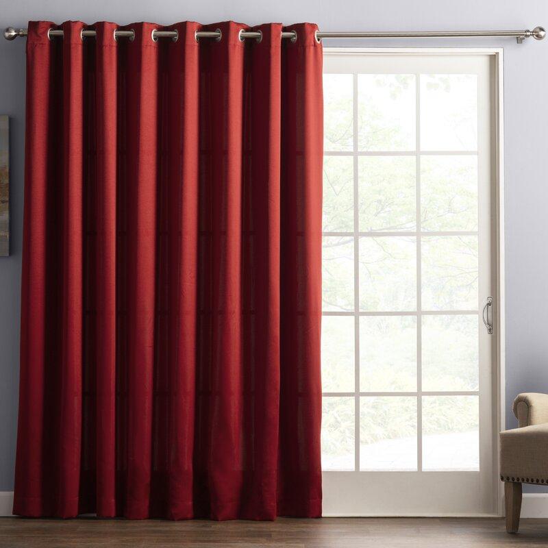 Solid Room Darkening Grommet Single Curtain Panel Intended For Grommet Room Darkening Curtain Panels (View 37 of 50)