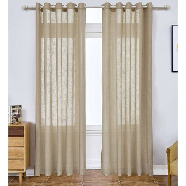 Solid Semi Sheer Thermal Grommet Curtain Panels In Luxury Collection Cranston Sheer Curtain Panel Pairs (View 34 of 42)