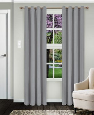 Solid Textured Blackout Curtain, Set Of 2, 52 X 63 With Regard To Superior Solid Insulated Thermal Blackout Grommet Curtain Panel Pairs (#37 of 45)