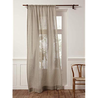 Solino Home 100% Pure Linen Sheer Curtain – 52 X 63 Inch Natural Rod Pocket  Window Panel – Handcrafted From European Flax Intended For Archaeo Washed Cotton Twist Tab Single Curtain Panels (View 18 of 21)
