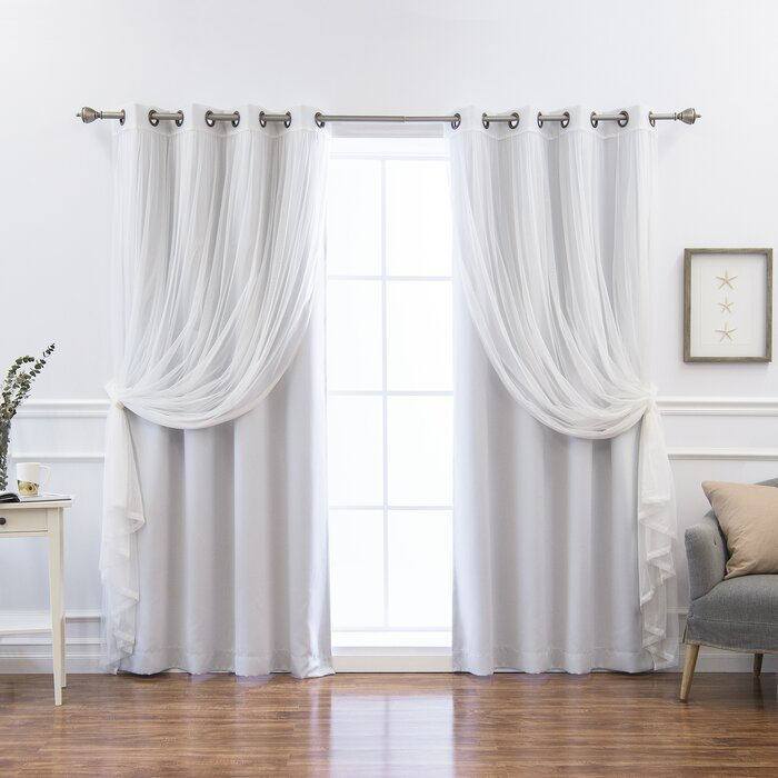 Sonja Mix And Match Solid Blackout Thermal Grommet Curtain Panels Regarding Mix And Match Blackout Blackout Curtains Panel Sets (#47 of 50)