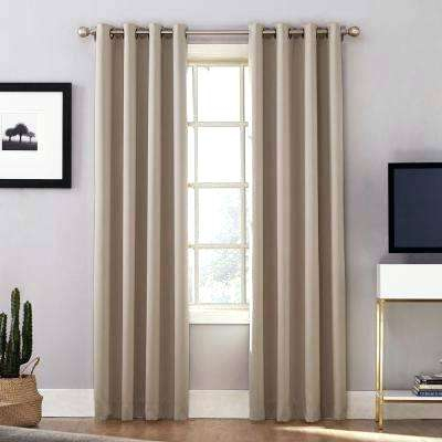 Sonoma Goods For Life Davis Blackout Curtain – Chiminea Wood In Davis Patio Grommet Top Single Curtain Panels (View 18 of 39)