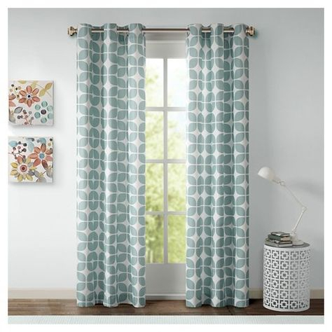 Sonya Geometric Curtain Panel Pair | Master | Geometric Inside Essentials Almaden Fretwork Printed Grommet Top Curtain Panel Pairs (#36 of 38)