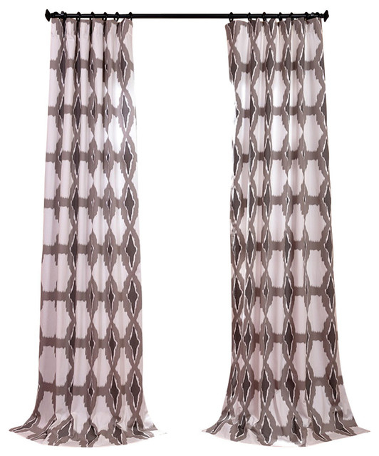 """Sorong Printed Cotton Curtain Single Panel, 50""""x108"""" Regarding Mecca Printed Cotton Single Curtain Panels (View 12 of 50)"""