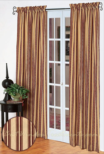 Southern Garnet Striped Curtain Panel (Pair) Within Curtain Panel Pairs (View 21 of 26)