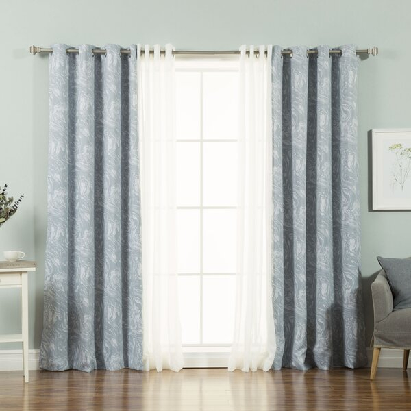 Spartansburg Abstract Blackout Thermal Grommet Panel Pair For Abstract Blackout Curtain Panel Pairs (View 38 of 46)