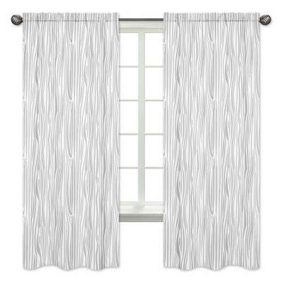 Stag Grey And White Collection Wood Grain Print Window Within Grey Printed Curtain Panels (View 43 of 48)