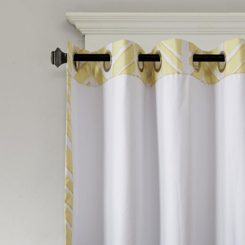 Stansel Chevron Max Blackout Grommet Single Curtain Panel With Chevron Blackout Grommet Curtain Panels (View 42 of 50)