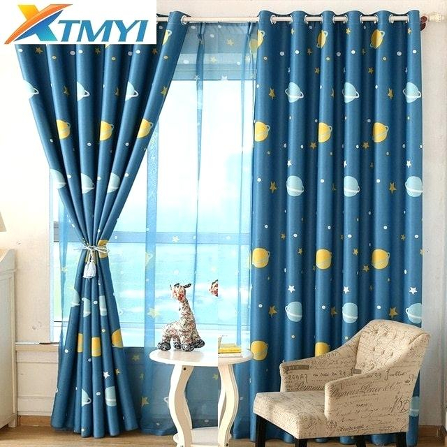 Star Curtains With Star Punch Tulle Overlay Blackout Curtain Panel Pairs (#44 of 50)