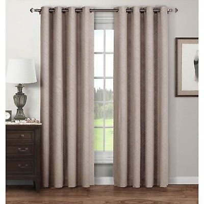 Stockholm Printed Cotton Extra Wide 104 X 96 Grommet Curtain Panel Pair  646760037506 | Ebay Within Signature Extrawide Double Layer Sheer Curtain Panels (#48 of 50)