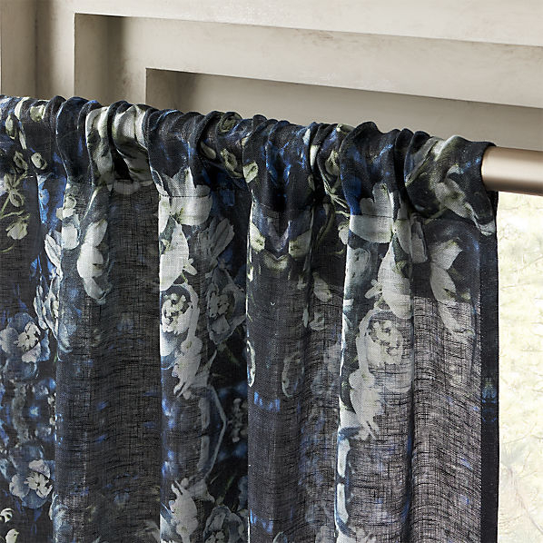"""Storm Floral Print Curtain Panel 48""""x96"""" With Regard To Grey Printed Curtain Panels (View 44 of 48)"""