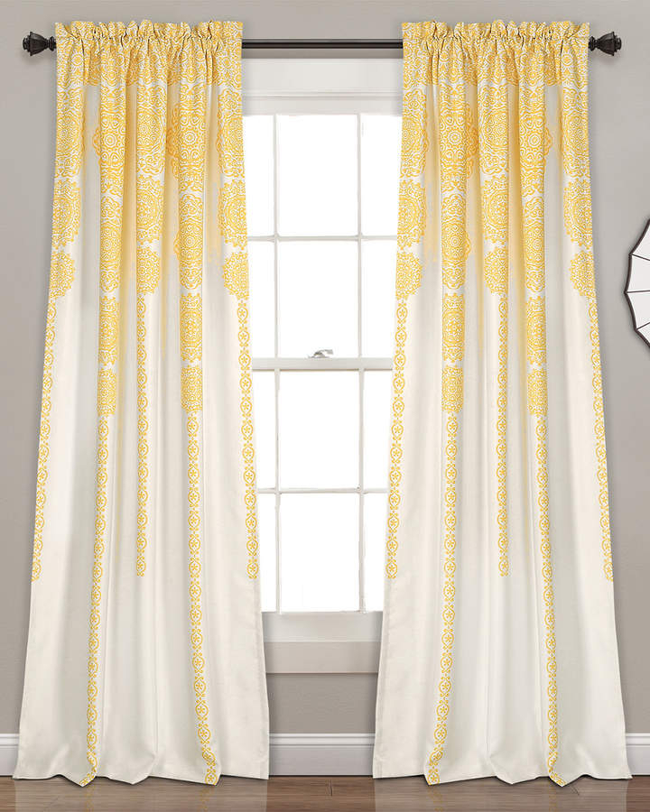 Stripe Medallion Room Darkening Window Curtain Panels Within Julia Striped Room Darkening Window Curtain Panel Pairs (#34 of 37)