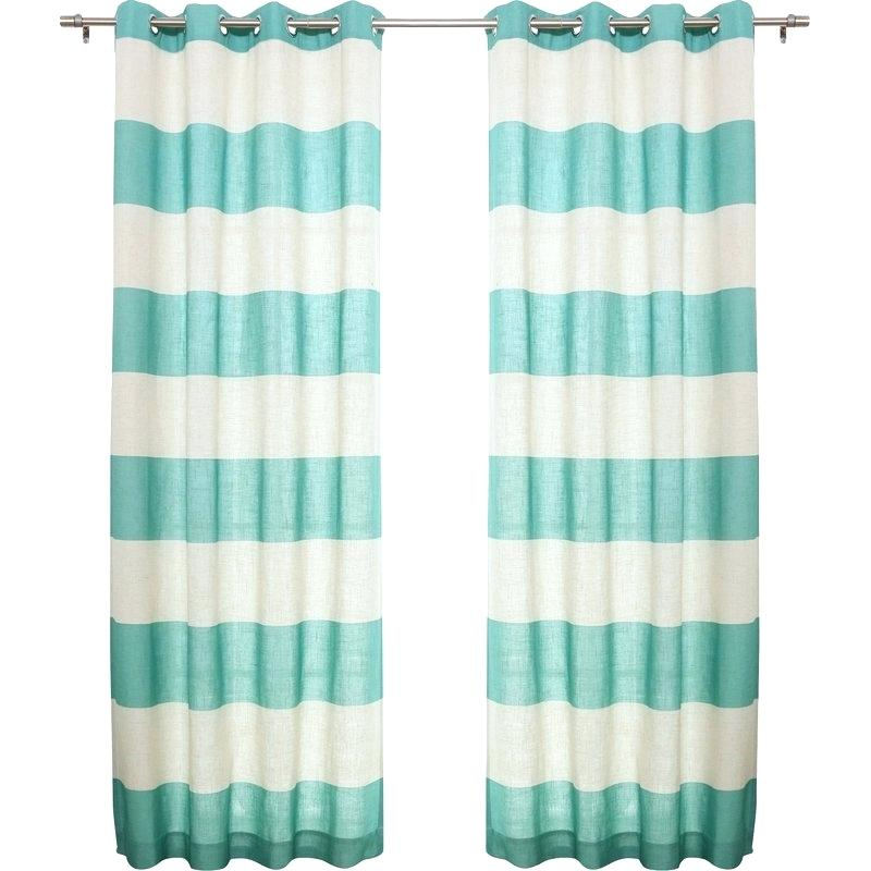 Striped Curtain Panels – Athiolget With Regard To Ocean Striped Window Curtain Panel Pairs With Grommet Top (#32 of 41)