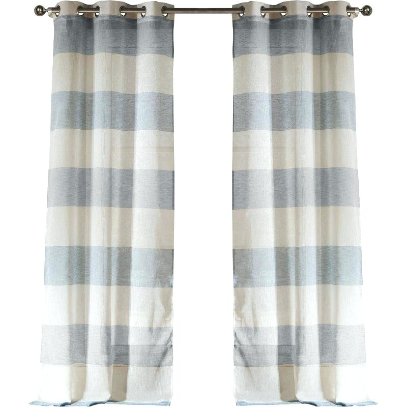 Striped Sheer Curtains – Gssstalmehra Regarding Montpellier Striped Linen Sheer Curtains (#49 of 50)