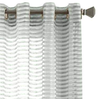 Studio Delano Grommet Top Sheer Curtain Panel X Pertaining To Delano Indoor/outdoor Grommet Top Curtain Panel Pairs (View 10 of 45)