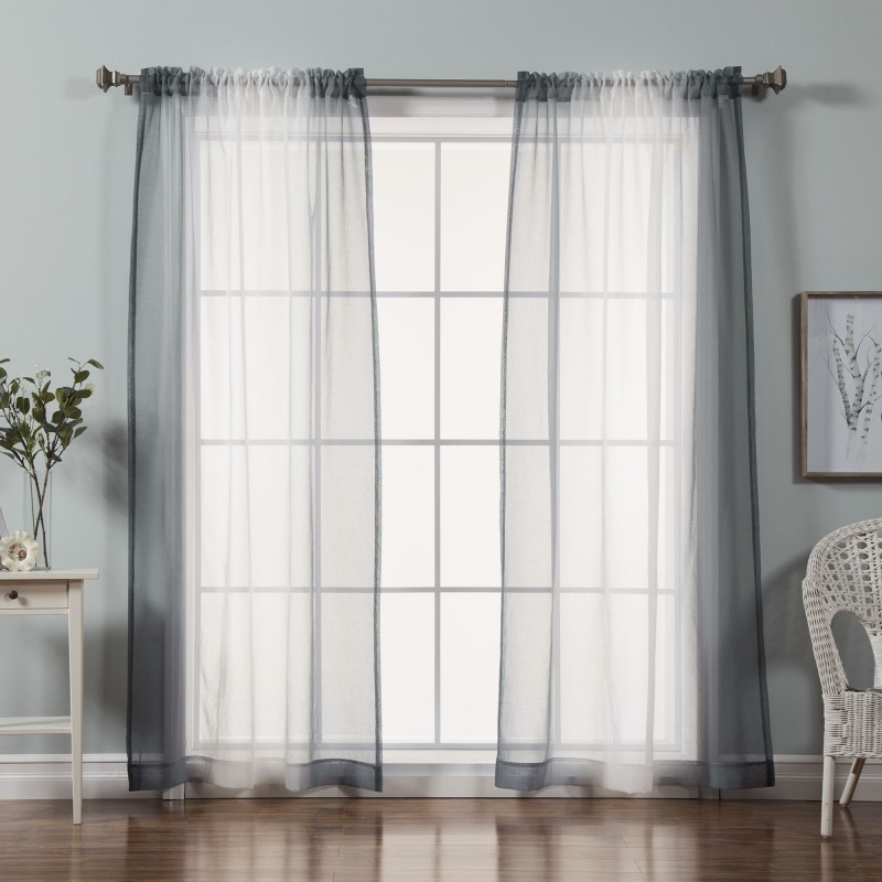 Stunning Ombre Sheer Curtains And Ombre Curtains Autumn Within Ombre Faux Linen Semi Sheer Curtains (#45 of 50)