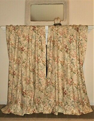 Stunning! Vintage Botanic Floral Pinch Pleat Lined Drapes With Gray Barn Dogwood Floral Curtain Panel Pairs (View 44 of 48)