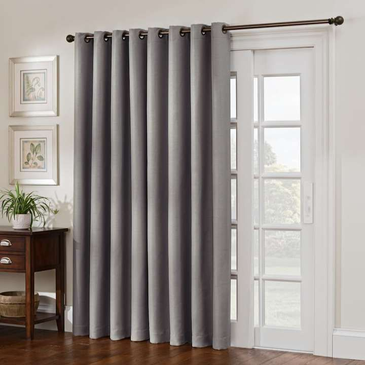 Style Domain 1 Panel Antique Satin Patio Door Curtain Pertaining To Davis Patio Grommet Top Single Curtain Panels (View 6 of 39)