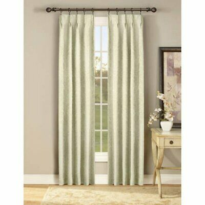Stylemaster Gabrielle Pinch Pleated Ivory Oyster Curtain Panels Pair 144X84  | Ebay With Curtain Panel Pairs (View 22 of 26)