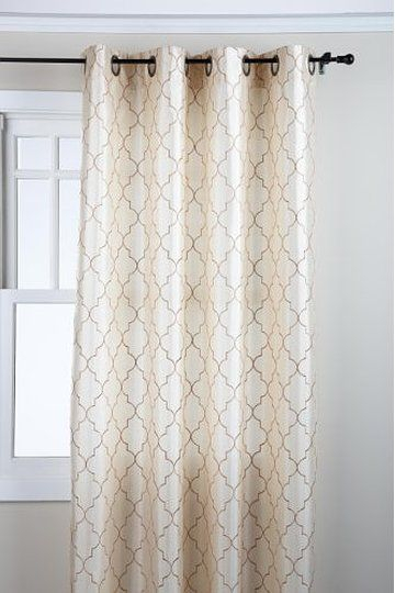 Stylemaster Hudson 5584 Inch Embroidered Faux Silk With Baroque Linen Grommet Top Curtain Panel Pairs (View 41 of 48)