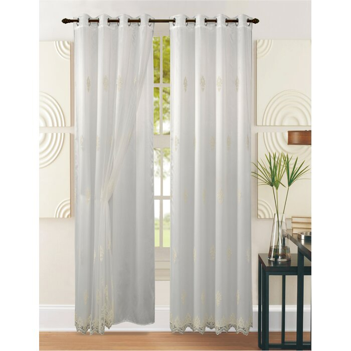 Success Floral/flower Sheer Single Curtain Panel Pertaining To Light Filtering Sheer Single Curtain Panels (#35 of 38)