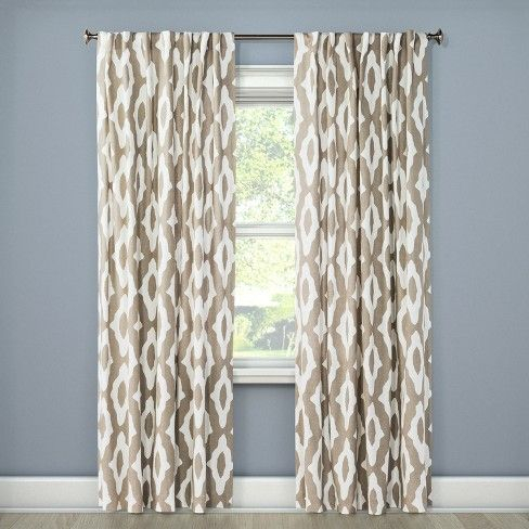 Summer Fret Curtain Panels – Project 62™ : Target Within Laya Fretwork Burnout Sheer Curtain Panels (View 34 of 38)