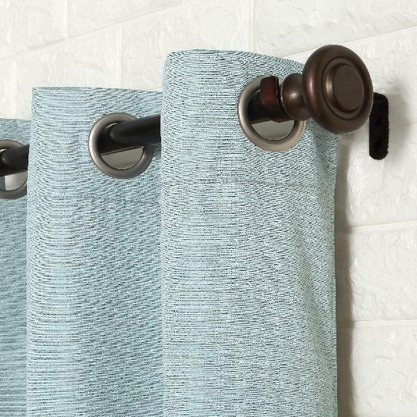 Sun Zero 2 Pack Arlo Textured Thermal Insulated Blackout Grommet Curtain  Panel P For Duran Thermal Insulated Blackout Grommet Curtain Panels (#18 of 29)
