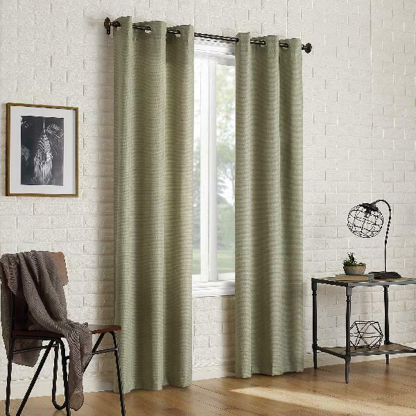 Sun Zero 2 Pack Arlo Textured Thermal Insulated Blackout Grommet Curtain  Panel P In Duran Thermal Insulated Blackout Grommet Curtain Panels (#19 of 29)
