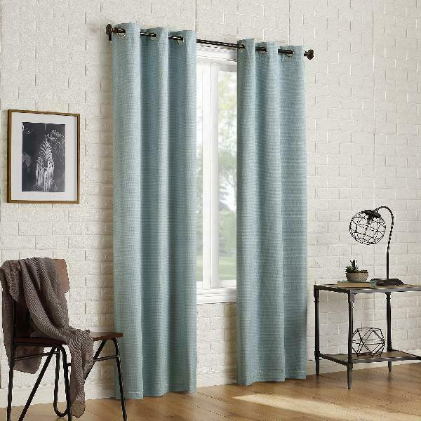Sun Zero 2 Pack Arlo Textured Thermal Insulated Blackout Grommet Curtain  Panel P Throughout Duran Thermal Insulated Blackout Grommet Curtain Panels (#20 of 29)