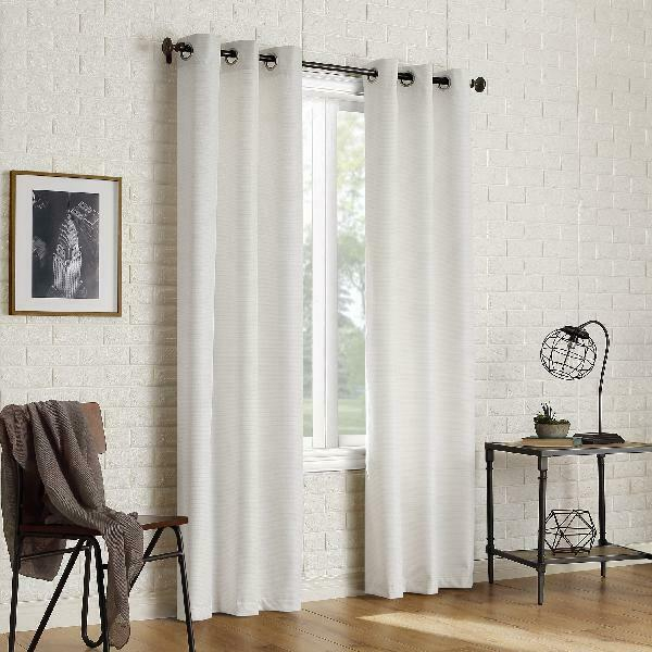 Sun Zero 2 Pack Arlo Textured Thermal Insulated Blackout Grommet Curtain  Panel P With Duran Thermal Insulated Blackout Grommet Curtain Panels (#22 of 29)