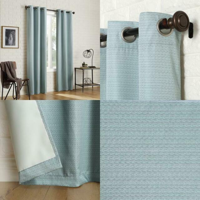 Sun Zero 2 Pack Arlo Textured Thermal Insulated Blackout Grommet Curtain  Panel P With Duran Thermal Insulated Blackout Grommet Curtain Panels (#21 of 29)