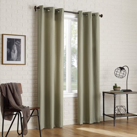 Sun Zero 2 Pack Arlo Textured Thermal Insulated Blackout In Solid Insulated Thermal Blackout Long Length Curtain Panel Pairs (View 20 of 50)