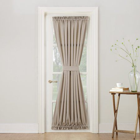 Sun Zero Bartlett Rod Pocket Room Darkening Curtain Door Within Nantahala Rod Pocket Room Darkening Patio Door Single Curtain Panels (#38 of 50)
