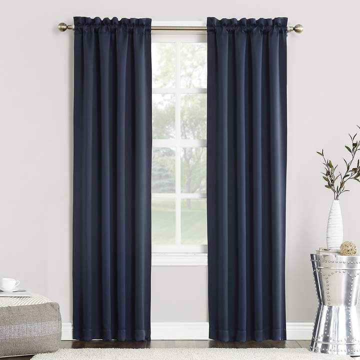 Sun Zero Blackout 1 Panel Ludlow Window Curtain | Products Throughout Copper Grove Speedwell Grommet Window Curtain Panels (#40 of 50)