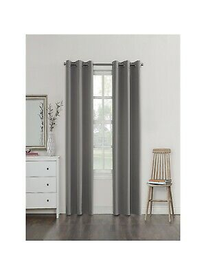 Sun Zero Campus Fleece Lined Reversible Blackout Curtain Panel (Grey – 63  Inches 29927535570 | Ebay Inside Riley Kids Bedroom Blackout Grommet Curtain Panels (#23 of 28)