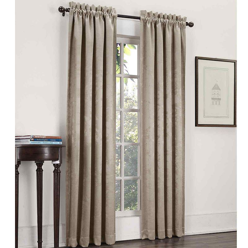 Sun Zero™ Cassara Rod Pocket Blackout Curtain Panel Within Elrene Mia Jacquard Blackout Curtain Panels (View 36 of 37)