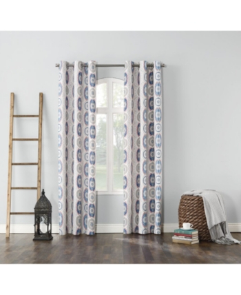 """Sun Zero Cherisse Thermal Lined Curtain 40"""" X 63"""" Panel Within Superior Leaves Insulated Thermal Blackout Grommet Curtain Panel Pairs (#38 of 50)"""