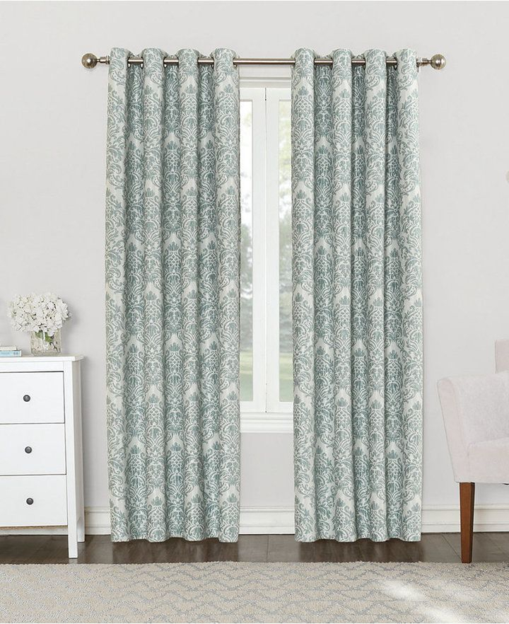 "Sun Zero Courtney 52"" X 84"" Damask Blackout Lined Grommet Within Lined Grommet Curtain Panels (#26 of 31)"