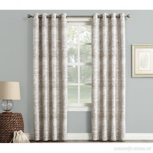 Sun Zero Darren Distressed Damask Max Blackout Thermal Within Cooper Textured Thermal Insulated Grommet Curtain Panels (View 30 of 50)