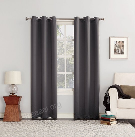 Sun Zero Easton Blackout Energy Efficient Curtain Panel 40 X In Easton Thermal Woven Blackout Grommet Top Curtain Panel Pairs (#38 of 44)